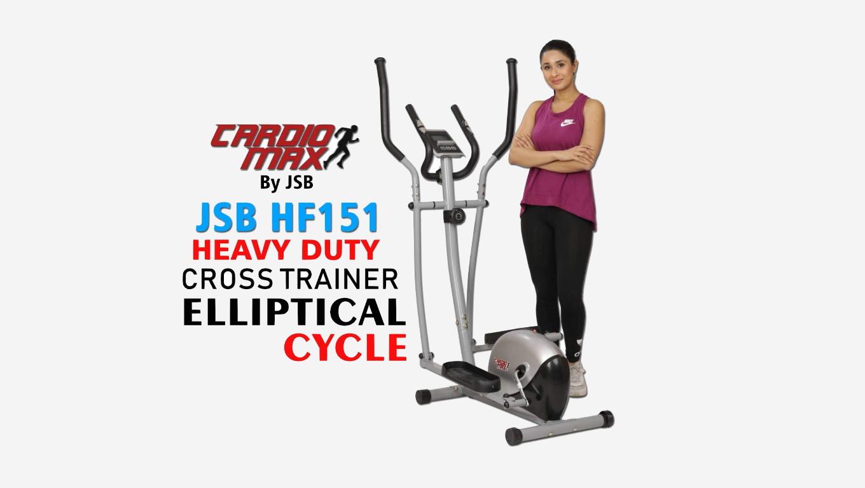 Cardio Max JSB HF151 Magnetic Elliptical Cycle Home Gym India